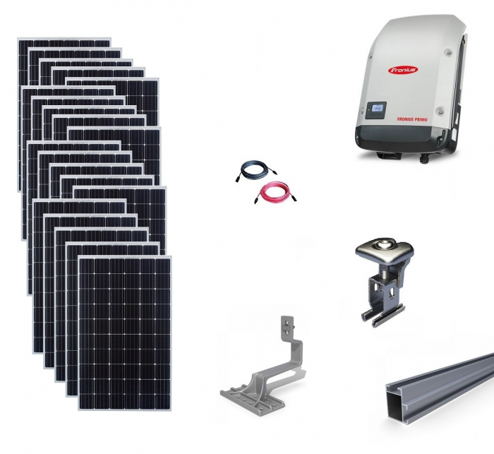 Fronius 6Kwp On-Grid Photovoltaic System catch on tile roof-big