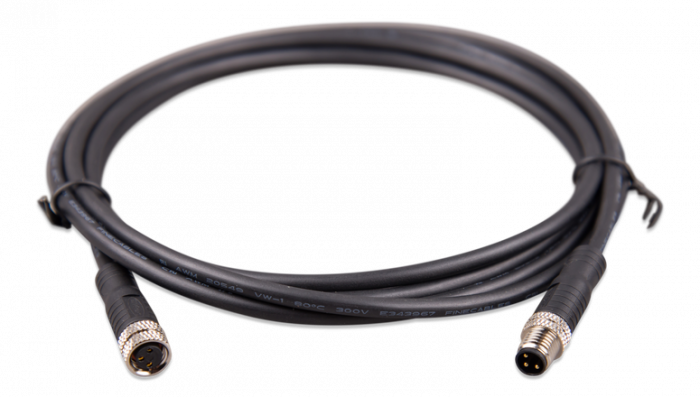M8 circular connector Male/Female 3 pole cable 2m (bag of 2)-big