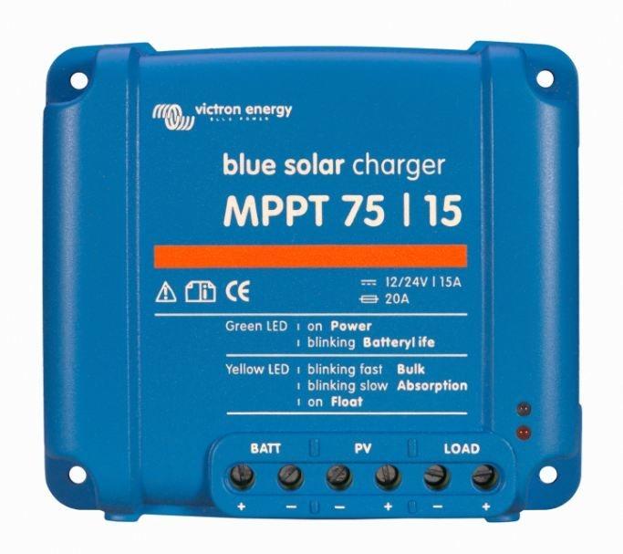 Solar Charge Controller Victron Energy BlueSolar MPPT 75/15 (12/24V-15A) - SCC010015050R-big