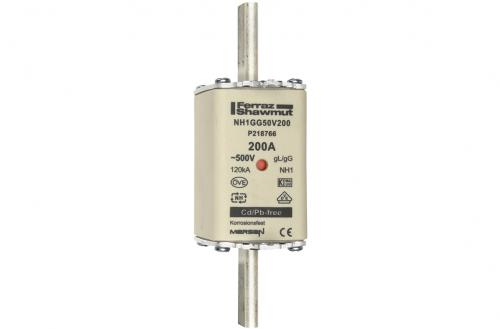 Mersen NH1GG50V200 - NH fuse-links gG 500VAC - Low Voltage IEC Fuses - 500V - 200A + BATTERY FUSE NH1, 6 POLES-big