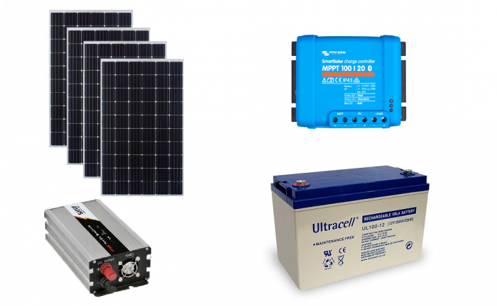 Off-grid photovoltaic system 1000Wp 220V Poweracu-big