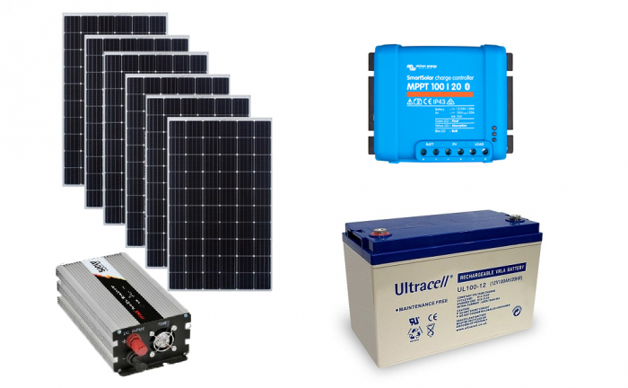 Off-grid photovoltaic system 1500Wp 220V Poweracu-big