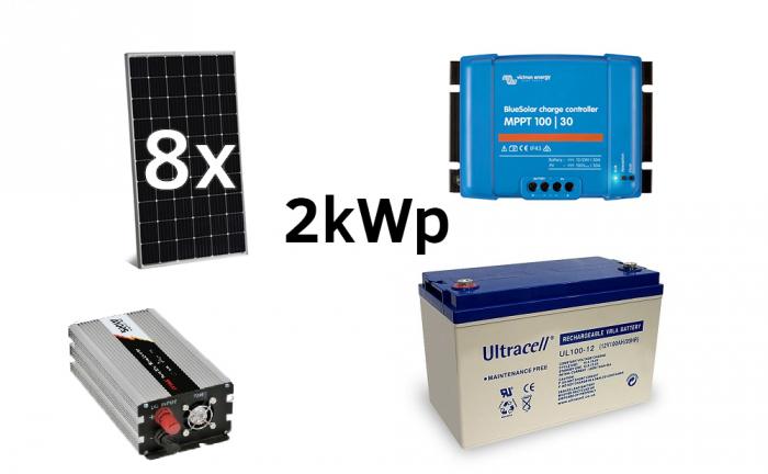 Off-grid photovoltaic system 2000Wp 220V Poweracu-big