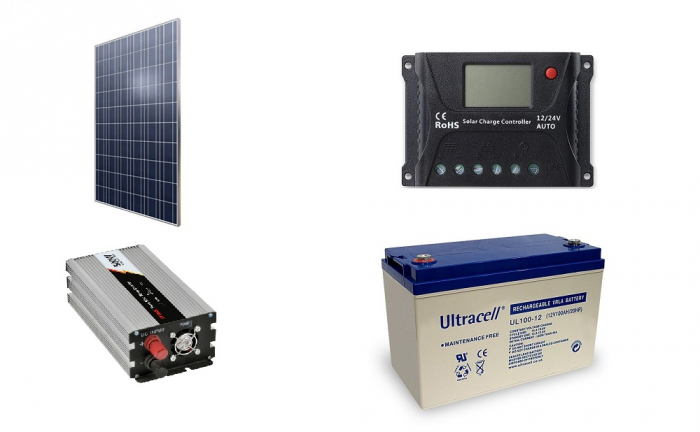 Off-grid photovoltaic system 300Wp 220V Poweracu-big