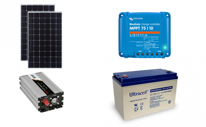 Off-grid photovoltaic system 600Wp 220V Poweracu-big