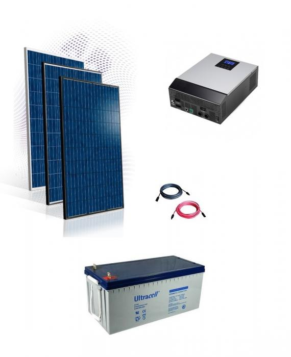 Photovoltaic System Off-grid 4kw average production 20kwh/day-big