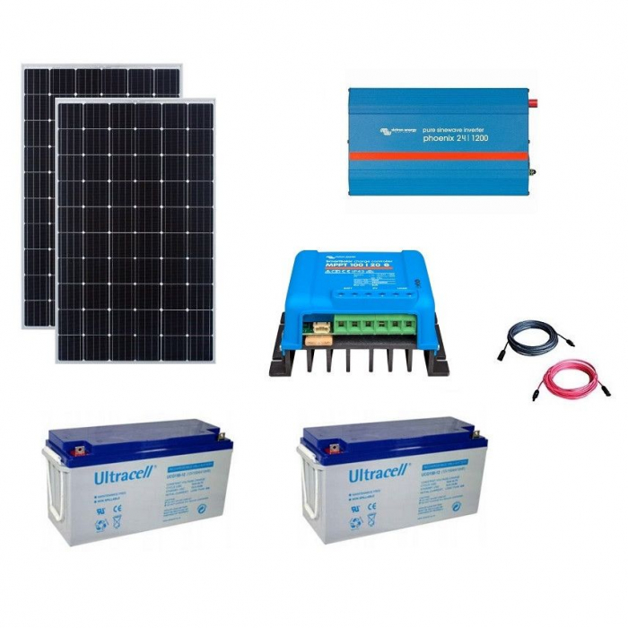 600W Off-Grid Photovoltaic Kit with 1200VA Inverter-big