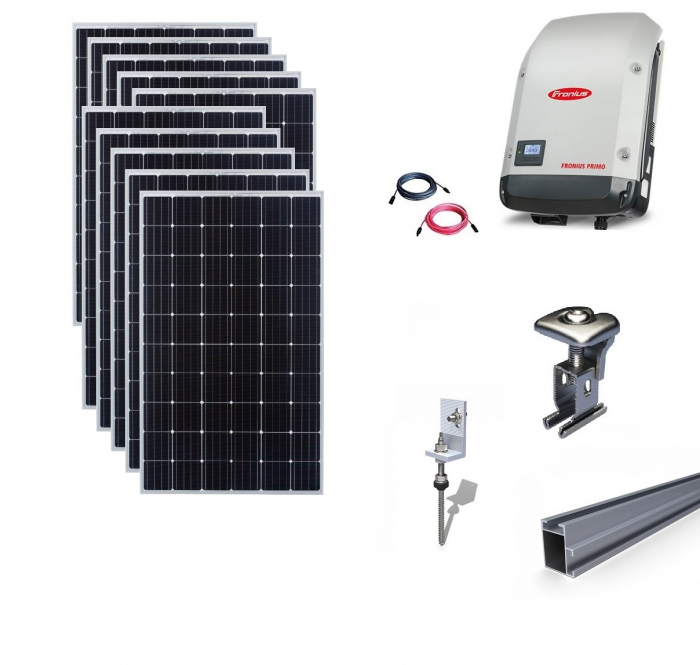 Fronius 3Kwp On-Grid Photovoltaic System catch on metal roof-big