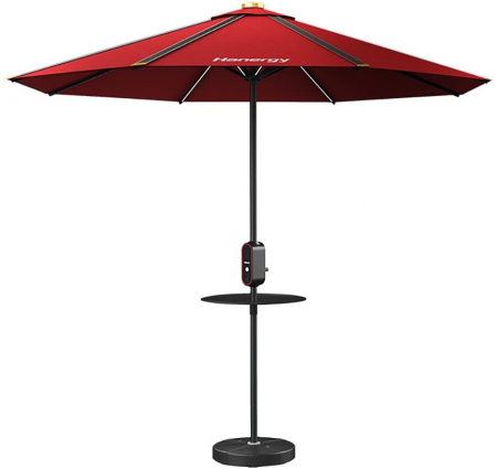 Photovoltaic umbrella, Hanergy, 4 USB ports, 38400mAh storage, diameter 2.8m0