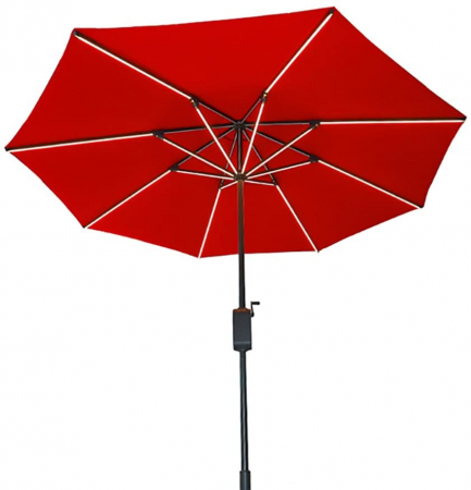 Photovoltaic umbrella, Hanergy, 4 USB ports, 38400mAh storage, diameter 2.8m3