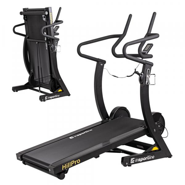 Banda de alergare mecanica InSportLine Hill Pro, 180 kg [0]