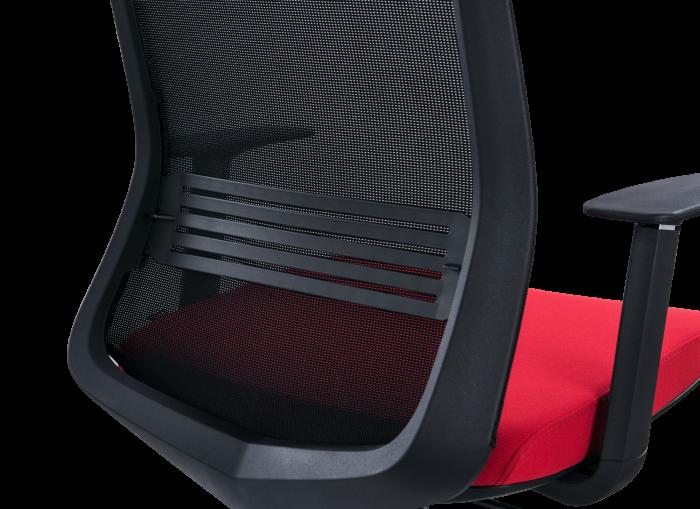 Scaun de birou ergonomic SeatTech Wave, Negru/Rosu [4]