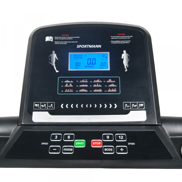 Banda de alergare electrica SportMann Intenso Sun, 2 CP, 120 kg [8]