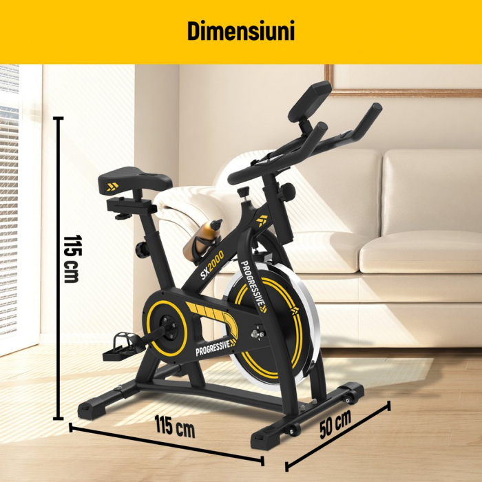 Bicicleta fitness Progressive SX2000, + 6 luni Kinomap gratis [5]