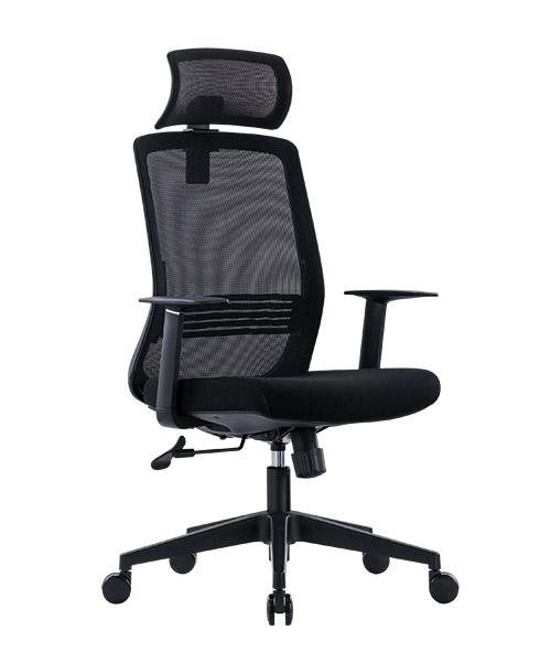 Scaun de birou ergonomic SeatTech Wave, Negru/Rosu [5]