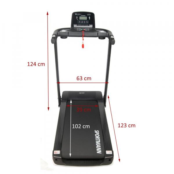 Banda de alergare electrica SportMann Intenso Sun, 2 CP, 120 kg [2]