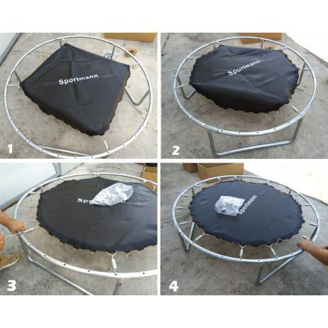 Trambulin si Plasa de siguranta SPORTMANN 183 cm [2]