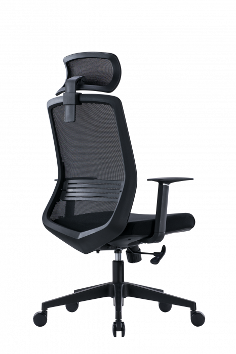 Scaun de birou ergonomic SeatTech Wave, Negru/Rosu [9]
