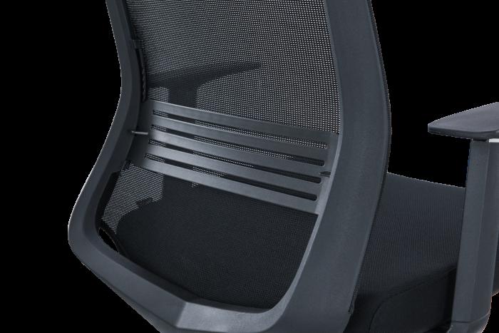 Scaun de birou ergonomic SeatTech Wave, Negru/Rosu [10]