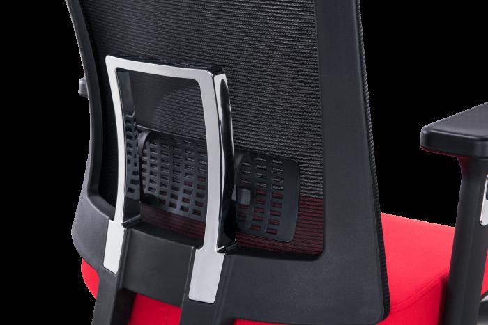 Scaun de birou ergonomic SeatTech Breeze, Negru/Rosu [4]