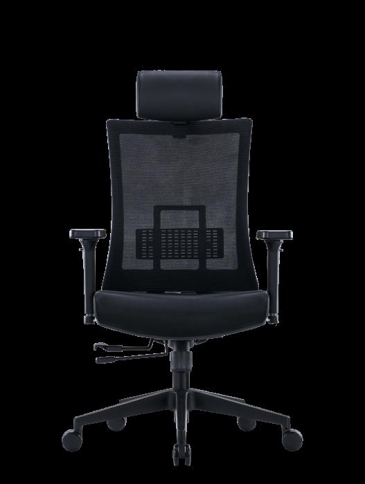 Scaun de birou ergonomic SeatTech Breeze, Negru/Rosu [7]