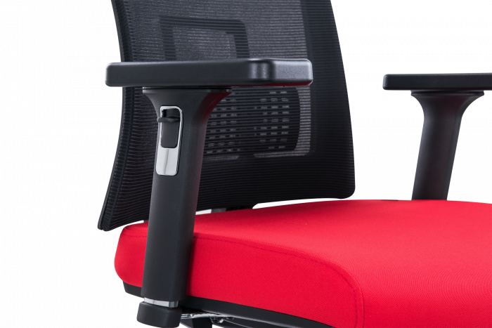Scaun de birou ergonomic SeatTech Breeze, Negru/Rosu [1]