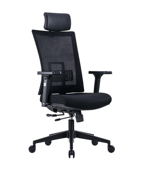 Scaun de birou ergonomic SeatTech Breeze, Negru/Rosu [5]