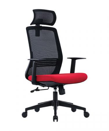 Scaun de birou ergonomic SeatTech Wave, Negru/Rosu [0]