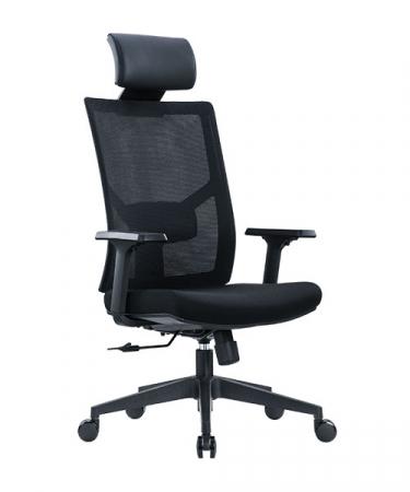 Scaun de birou ergonomic SeatTech Axis, Negru [0]