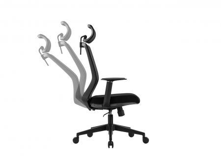 Scaun de birou ergonomic SeatTech Wave, Negru/Rosu [11]