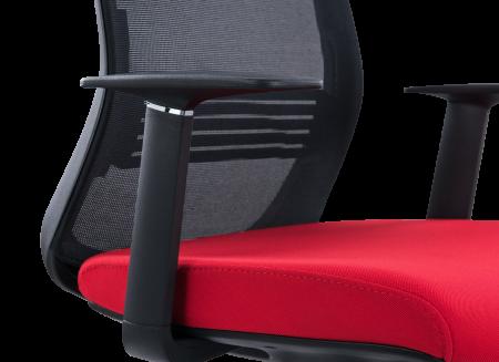 Scaun de birou ergonomic SeatTech Wave, Negru/Rosu [3]