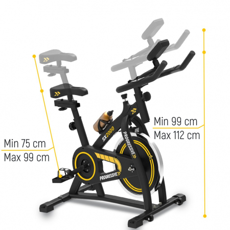 Bicicleta fitness Progressive SX2000, + 6 luni Kinomap gratis [6]