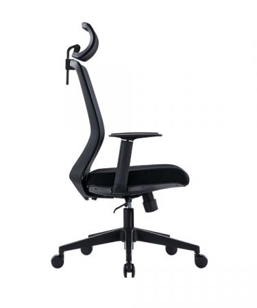 Scaun de birou ergonomic SeatTech Wave, Negru/Rosu [7]