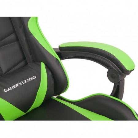 Scaun Gaming Gamer's Legend G1, Verde [7]