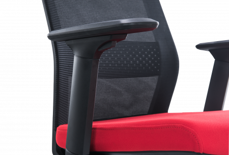 Scaun de birou ergonomic SeatTech Breeze, Negru/Rosu [3]