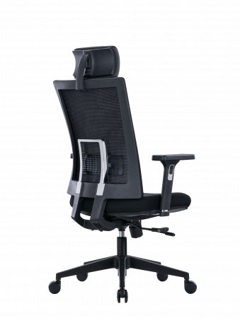 Scaun de birou ergonomic SeatTech Breeze, Negru/Rosu [6]
