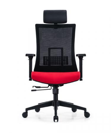 Scaun de birou ergonomic SeatTech Breeze, Negru/Rosu [0]