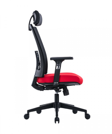 Scaun de birou ergonomic SeatTech Breeze, Negru/Rosu [2]
