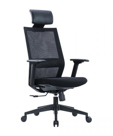 Scaun de birou ergonomic SeatTech Square, Negru/Rosu [0]