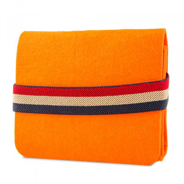 Mini geanta din fetru pentru pastrarea uleiurilor esentiale, portocalie, CuteBag 1
