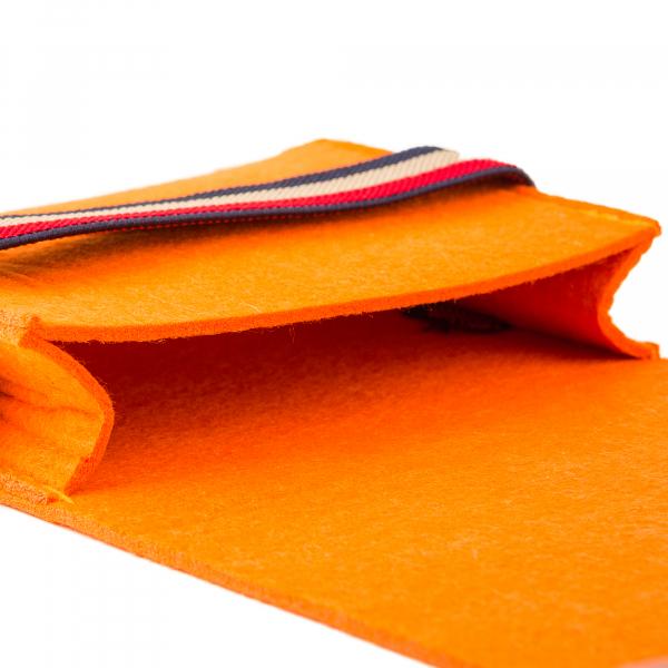 Mini geanta din fetru pentru pastrarea uleiurilor esentiale, portocalie, CuteBag 3