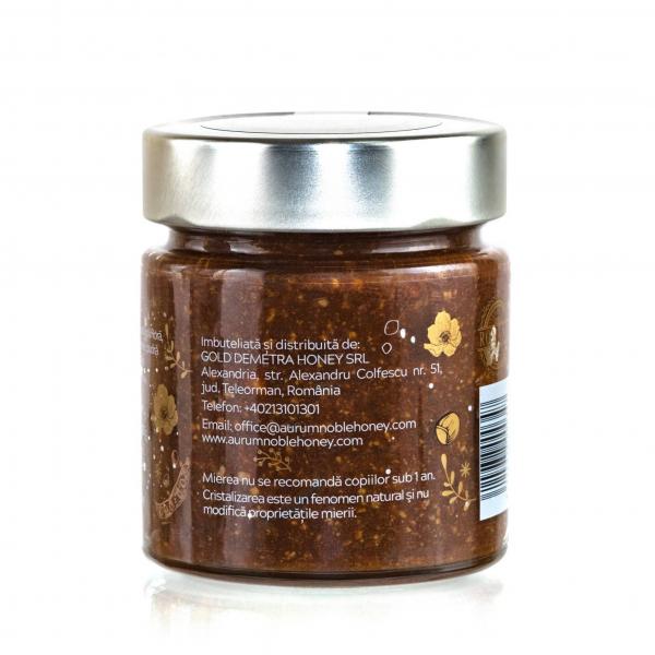 Miere cruda poliflora & alune de padure rumenite & pudra de roscove & sare de mare 300g 1