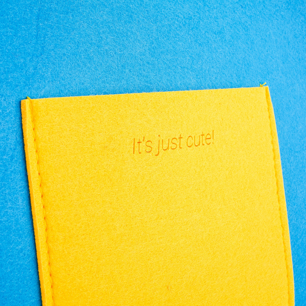 Geanta din fetru galben-bleu cu buzunare CuteBag 3