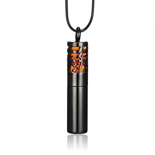 Colier tip sticla de parfum negru 40 mm pentru uleiuri esentiale! 0