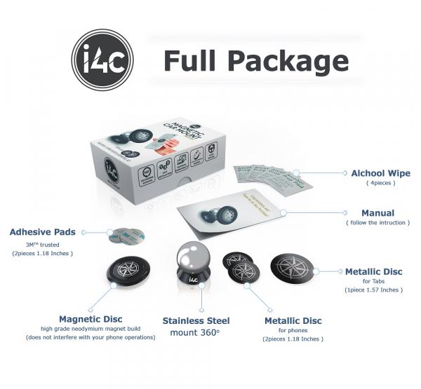 Suport magnetic pentru orice telefon sau tableta i4c! 4