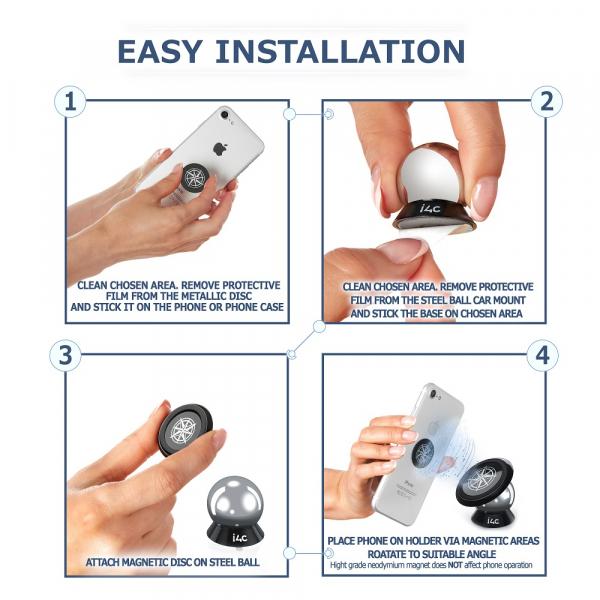 Suport magnetic pentru orice telefon sau tableta i4c! 5