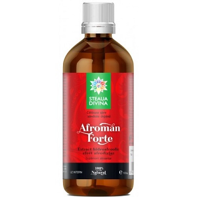 Afroman Forte Tinctura 100 ml Steaua Divina - pentru dinamism sexual crescut 0