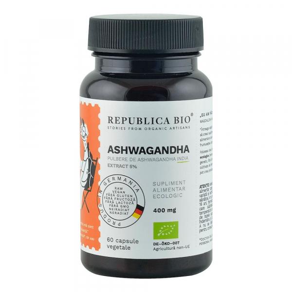 Ashwagandha ecologica 400mg 60 cps 60 capsule 0