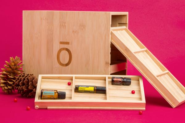 Cutie din bambus pentru uleiuri esentiale - editie speciala- Doterra 0