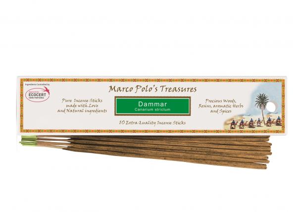 Betisoare parfumate cu Dammar (Canarium Strictum) 10 buc Fiore D'Oriente 0